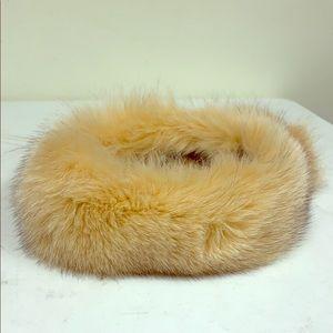 NWOT Winter Headband in Real Fox Fur